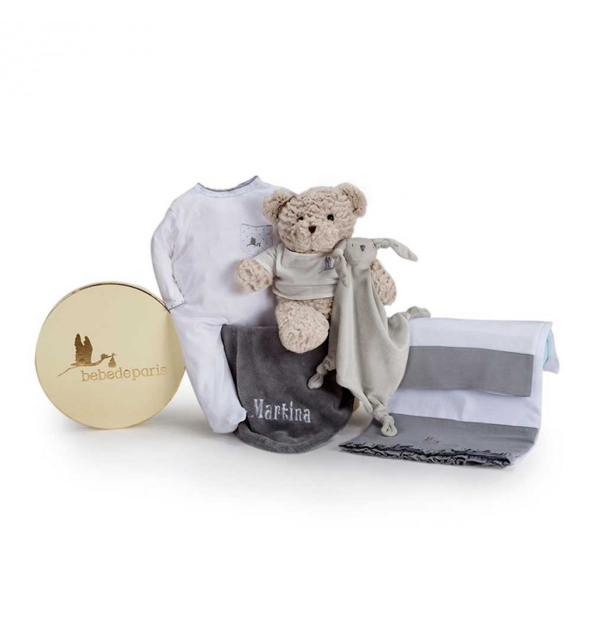 Newborn Baby Hamper & Baby Gift Baskets | BebedeParis South Africa Embroidered Bedtime Baby Hamper