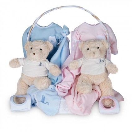 Newborn Baby Hamper & Baby Gift Baskets | BebedeParis South Africa Twins Classic Baby Basket
