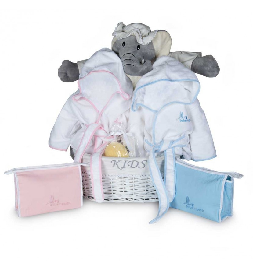 Newborn Baby Hamper & Baby Gift Baskets | BebedeParis South Africa Twins Bathtime Baby Basket
