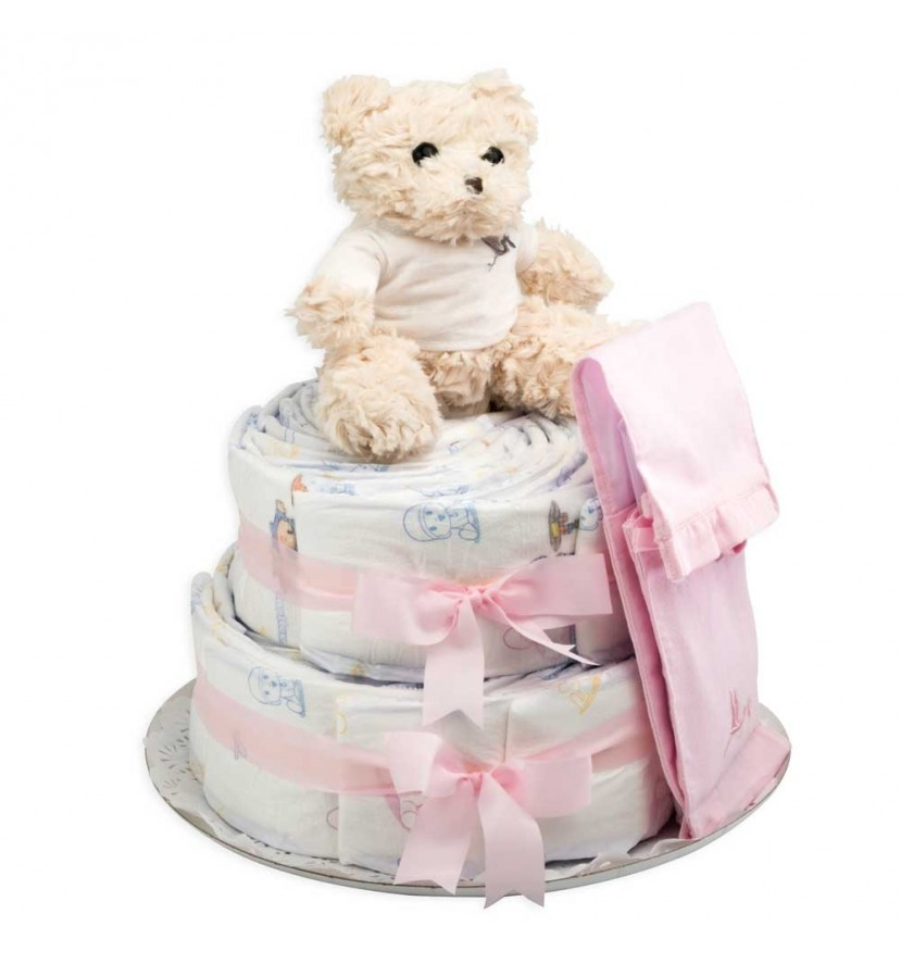 Buy Best Nappy Cakes Online | BebedeParis Baby Products South Africa Chic Nappy Cake