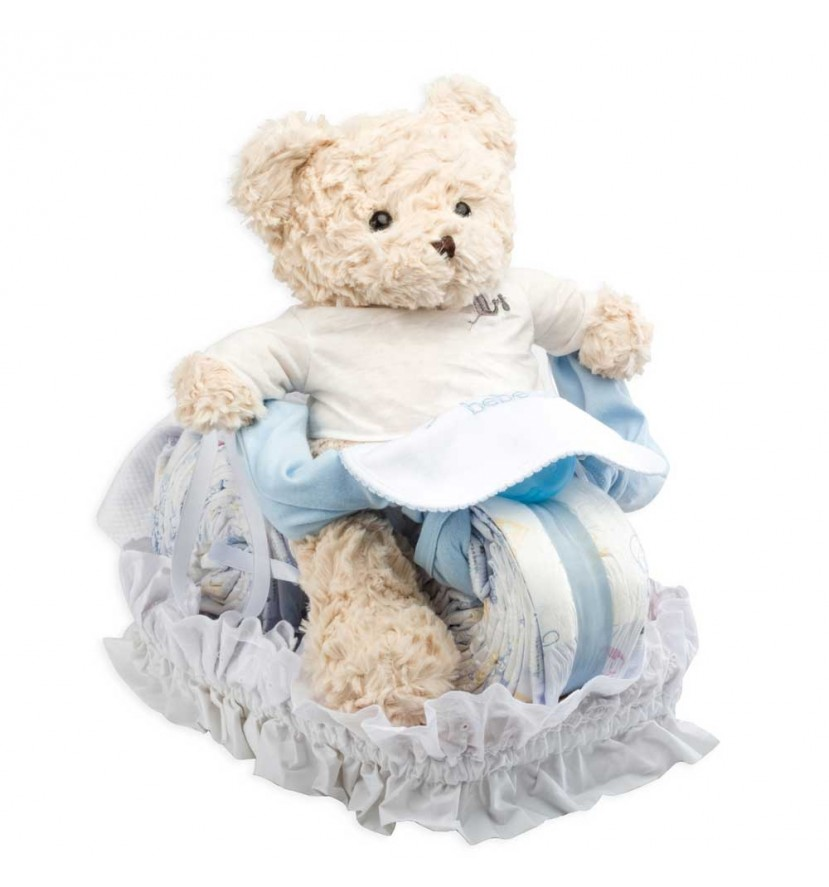 Buy Best Nappy Cakes Online | BebedeParis Baby Products South Africa Motorbike Nappy Cake