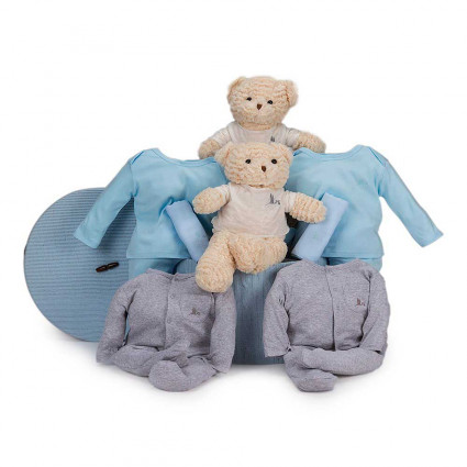 Twins Casual Baby Hamper blue