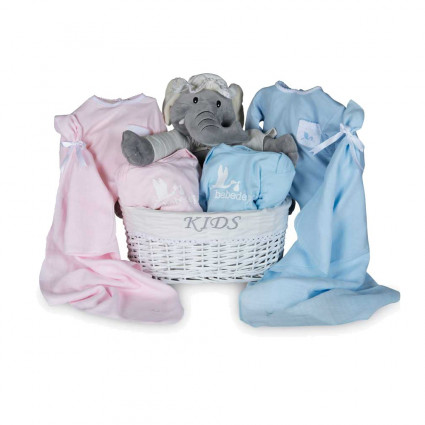 Newborn Baby Hamper & Baby Gift Baskets | BebedeParis South Africa Twins Trousseau Baby Basket