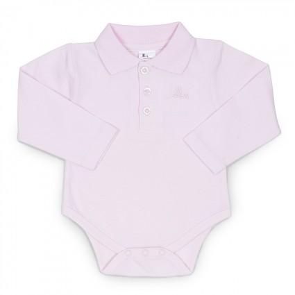 Baby Polo Bodysuit Rosa