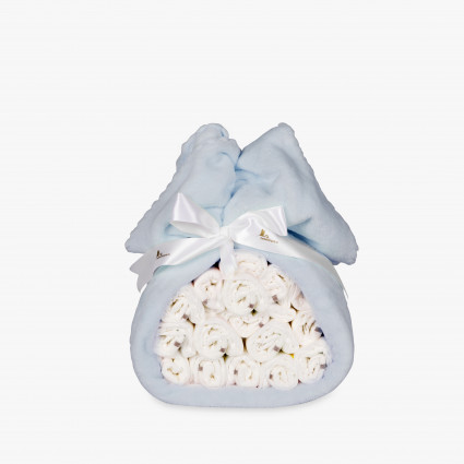 Buy Best Nappy Cakes Online | BebedeParis Baby Products South Africa Blanket Nappy Cake