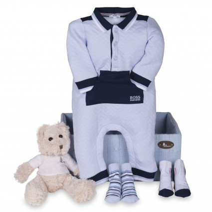 Newborn Baby Hamper & Baby Gift Baskets | BebedeParis South Africa Hugo Boss Baby Jumpsuit Hamper