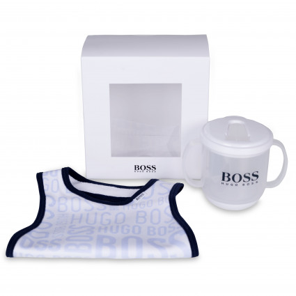 Hugo Boss Sippy Cup and Bib Set