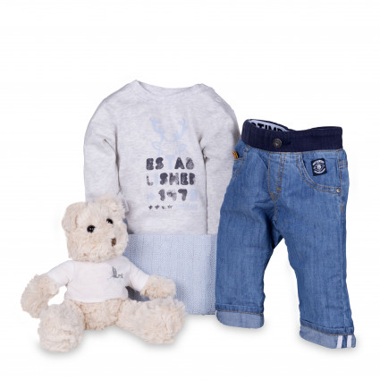 Newborn Baby Hamper & Baby Gift Baskets | BebedeParis South Africa Timberland Baby Denim Jeans Gift Set