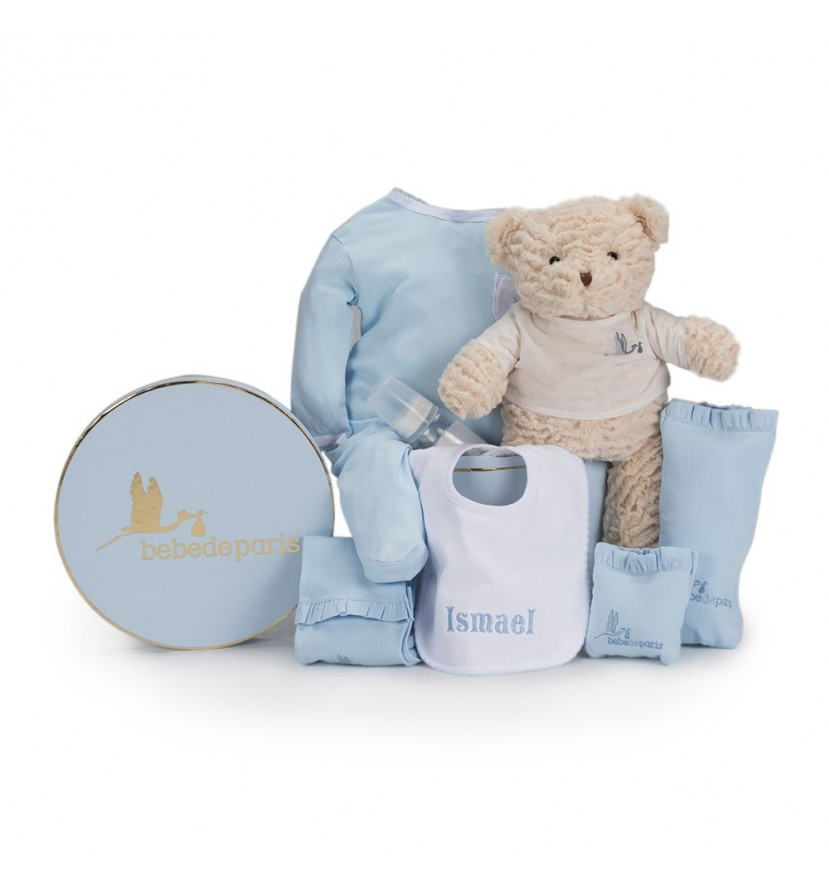 Newborn Baby Hamper & Baby Gift Baskets | BebedeParis South Africa Embroidered Bib Baby Hamper