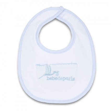Blue Baby Pocket Bib Blue
